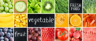 Fruit and Veggie Collage