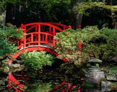 Garden Bridge Jigsaw Puzzle