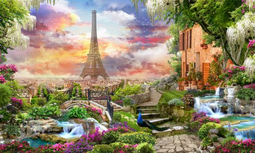 Garden in Paris Jigsaw Puzzle