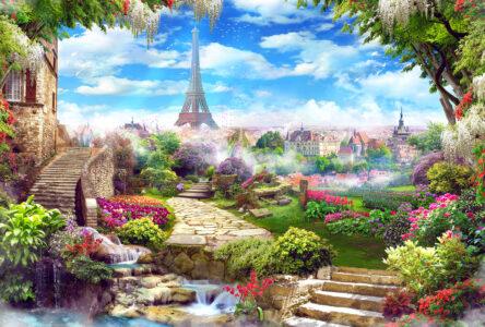 Garden of Paris Jigsaw Puzzle
