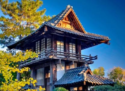 Garden Pagoda Jigsaw Puzzle