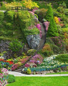 Garden Staircase Jigsaw Puzzle