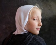 Girl with White Hood