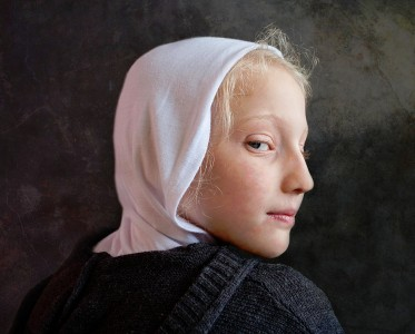 Girl with White Hood Jigsaw Puzzle