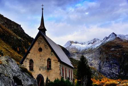 Gletsch Church Jigsaw Puzzle