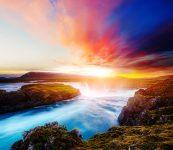 Godafoss Sky