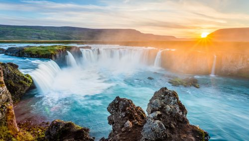 Godafoss Sunset Jigsaw Puzzle