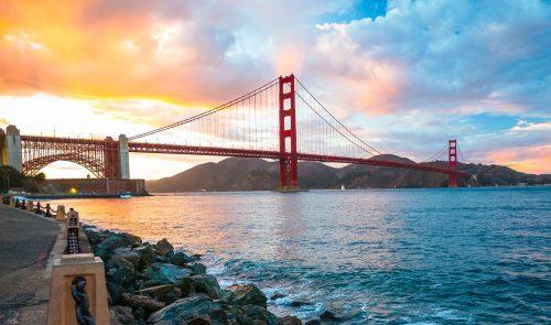 Golden Gate Sunset Jigsaw Puzzle