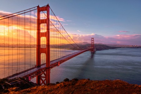 Golden Gate Sunset Jigsaw Puzzle