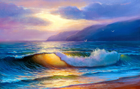Golden Wave Jigsaw Puzzle