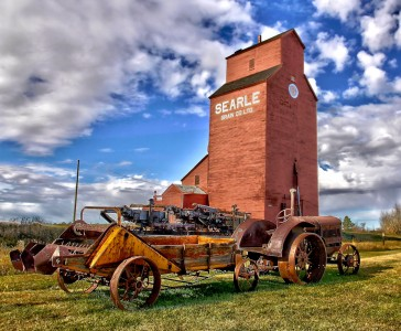 Grain Elevator and Tractor Jigsaw Puzzle