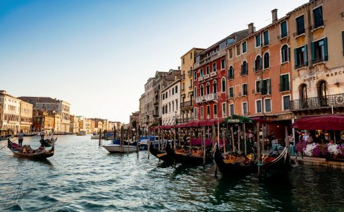 Grand Canal Cafes  Jigsaw Puzzle