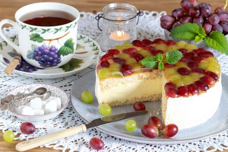 Grape Cream Cake Jigsaw Puzzle