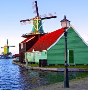 Green Windmill Jigsaw Puzzle