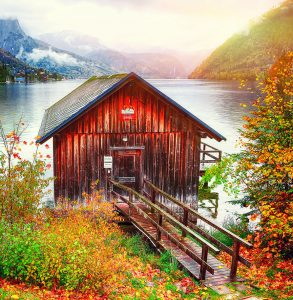 Grundlsee Boathouse Jigsaw Puzzle