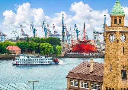Hamburg Harbor Jigsaw Puzzle