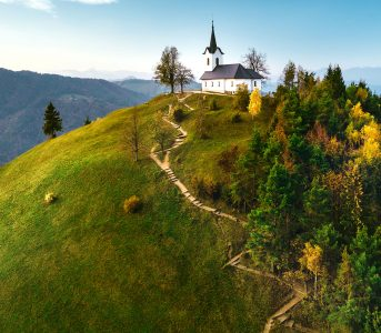 Hilltop Church Jigsaw Puzzle