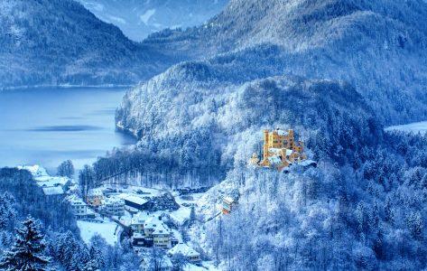 Hohenschwangau in Snow Jigsaw Puzzle