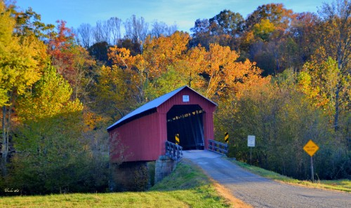 Hune Covered Bridge Jigsaw Puzzle