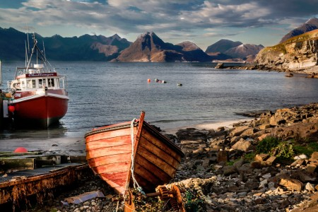 Isle of Skye Boats Jigsaw Puzzle