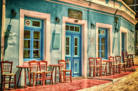 Karpathos Cafe Jigsaw Puzzle