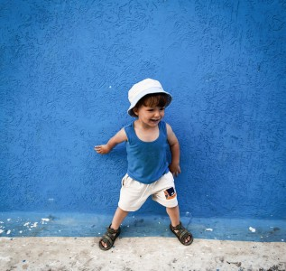 Kid in Blue Jigsaw Puzzle