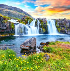 Kirkjufellsfoss Waterfall Jigsaw Puzzle