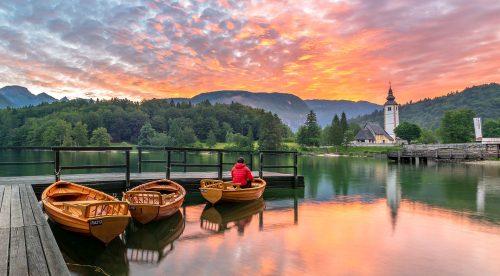 Lake Bohinj Boats Jigsaw Puzzle