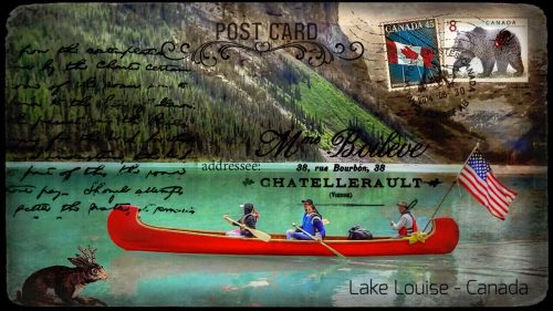 Lake Louise Postcard Jigsaw Puzzle