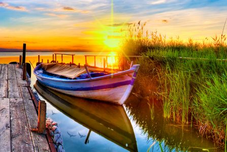 Lake Sunset Jigsaw Puzzle