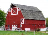 Large Red Barn
