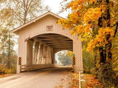 Larwood Covered Bridge Jigsaw Puzzle