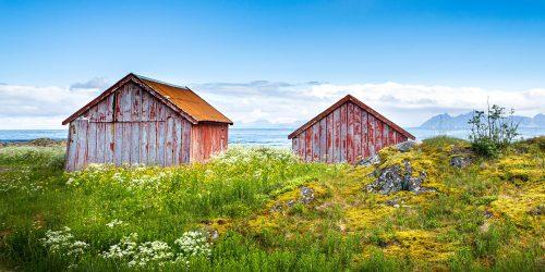Laukvik Fishing Huts Jigsaw Puzzle
