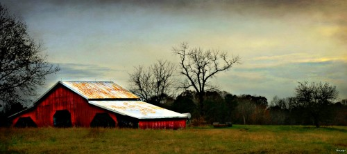 Leaning Barn Jigsaw Puzzle