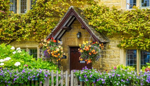 Limestone and Flowers Jigsaw Puzzle
