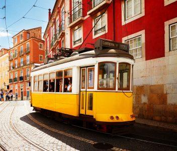 Lisbon Street Tram Jigsaw Puzzle