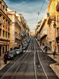 Lisbon Tracks Jigsaw Puzzle