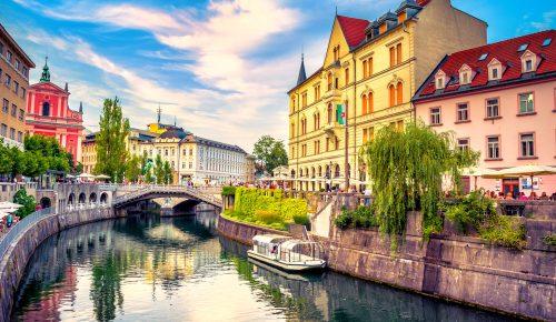 Ljubljana Canal Jigsaw Puzzle