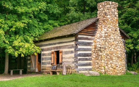 Log Cabin Jigsaw Puzzle