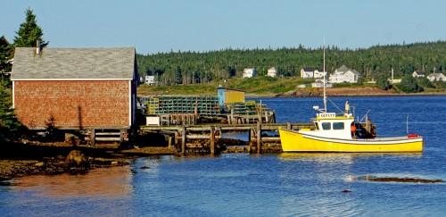 Louisbourg Harbor Jigsaw Puzzle