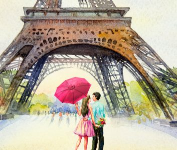 Love Under the Eiffel Jigsaw Puzzle