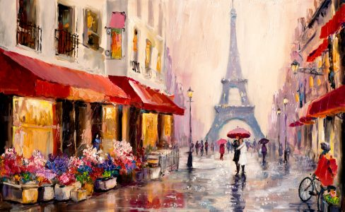 Lovers in Paris Jigsaw Puzzle