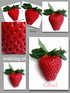 Making a Strawberry Jigsaw Puzzle