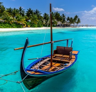 Maldives Sailboat Jigsaw Puzzle