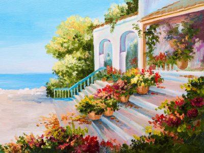 Mediterranean Villa Jigsaw Puzzle