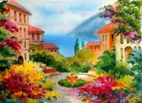 Mediterranean Watercolor
