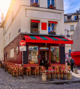 Montmartre Cafe Jigsaw Puzzle