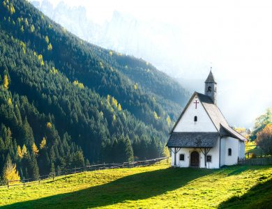 Mountain Church Jigsaw Puzzle