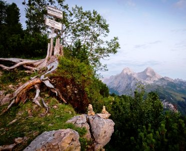 Mountain Guidepost Jigsaw Puzzle