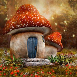 Mushroom Cottage Jigsaw Puzzle
